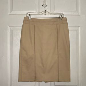 WHBM Perfect Form Tan Pencil Skirt Biscotti 10